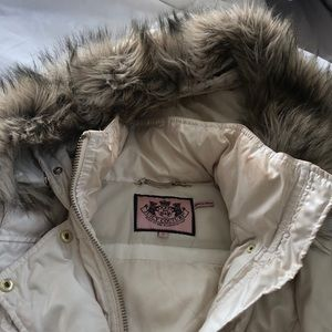 Juicy couture ivory parka